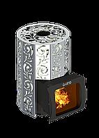 Дровяная печь для бани Grill D Violet Steel Short Window Max+ жадеит 80 кг