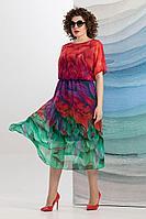 Женское летнее шифоновое большого размера платье Avanti Erika 1193-1 50р.