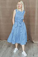 Женское летнее хлопковое голубое платье Totallook 20-4-26 42р.