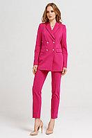 Женский летний хлопковый розовый деловой жакет Панда 19730z малиновый 42р.
