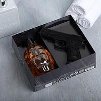 """Набор """"Сила, воля, характер"""" гель для душа граната 250 мл аромат мужского парфюма, мыло"""