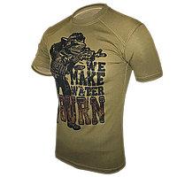 Тактическая тренировочная футболка «We make water burn»