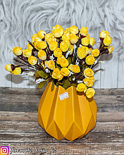 Ваза декоративная. Материал: Керамика. Цвет: Желтый.