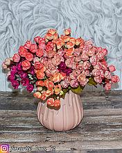 Ваза декоративная. Материал: Керамика. Цвет: Розовый.