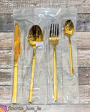 Набор столовых приборов. Материал: Металл. Цвет: Золотистый. Набор: 4 предмета.