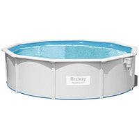 Сборный круглый бассейн Bestway Hydrium 56384 (460х120 см) с песочным фильтром, лестницей и тентом, фото 1
