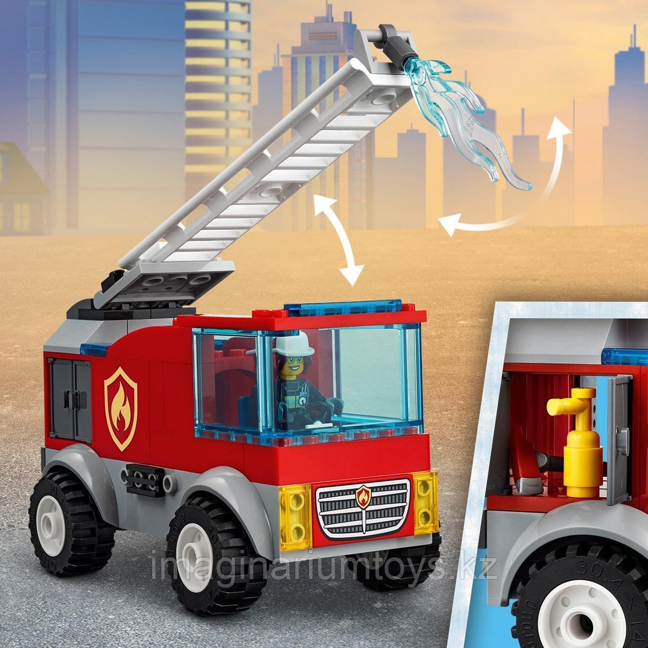 Конструктор LEGO City Лего город Пожарная машина с лестницей 60280 - фото 5