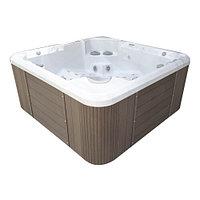 Гидромассажный бассейн IQUE Dreamline-II 2200-II-DD-BPM (WiFi+MICROSILK) (220х220х96 см), Brushedwalnut