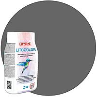 LITOCOLOR L.12 тёмно-серая - затир. смесь (2kg Al.bag) 15 шт