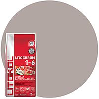 LITOCHROM 1-6 C.30 жемчужно-серая-затир.смесь (2kg Al.bag) 8 шт, фото 1