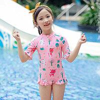 Купальник для девочки с защитой от ультро фиолетовых лучей