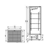 Холодильный шкаф Капри 0,7М (нержавейка), фото 2