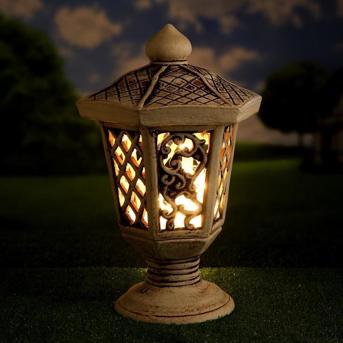 """Садовый светильник """"Сапфир"""", шамот, 38 см, без элемента питания"""