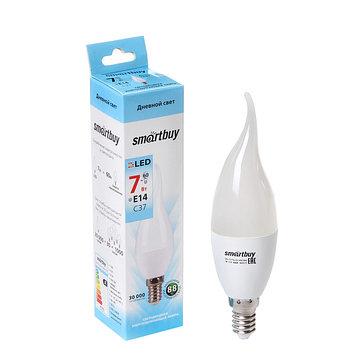 Лампа cветодиодная Smartbuy, C37, E14, 7 Вт, 4000 К, матовое стекло, дневной белый свет