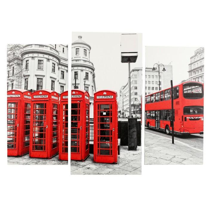 "Картина модульная на подрамнике ""Улицы Лондона"" (2-25х50, 30х60 см) 80х60 см"