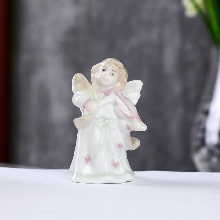 "Сувенир керамика ""Ангел со скрипкой"" цветной 8х4х4,5 см"