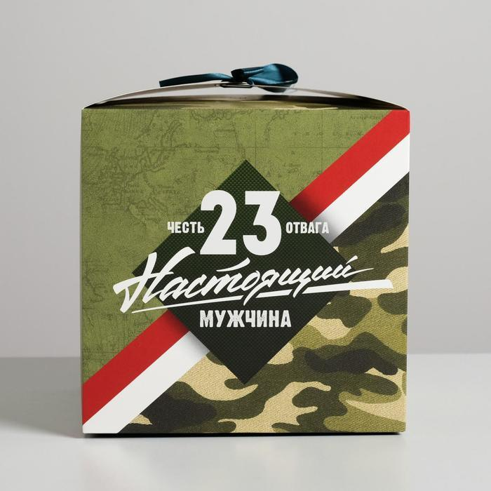 Коробка складная «Настоящему мужчине», 18 × 18 × 18 см - фото 2