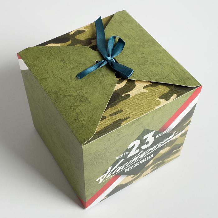 Коробка складная «Настоящему мужчине», 18 × 18 × 18 см - фото 3