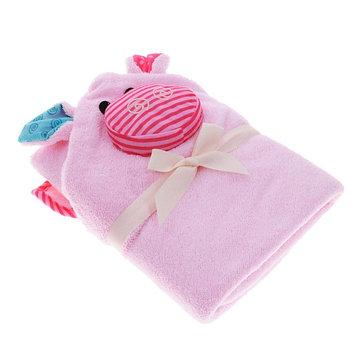 Полотенце с капюшоном для малышей Zoocchini «Поросёнок Пинки», цвет розовый, 0-18 мес