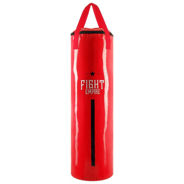 Мешок боксёрский FIGHT EMPIRE, на ленте ременной, красный, 110 см, d=35 см, 35 кг