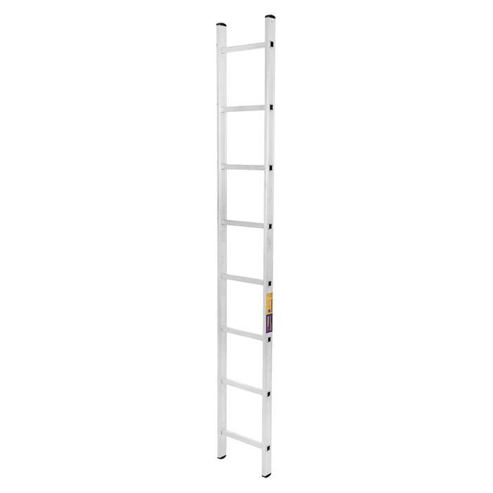 Лестница TUNDRA, алюминиевая, односекционная, приставная, 8 ступеней, 2230 мм