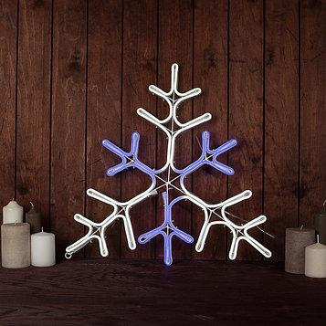 """Фигура из неона """"Снежинка"""", 51 см, 480 LED, 12V, контроллер 8 режимов, СИНЕ-БЕЛЫЙ"""