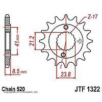 Звезда передняя ведущая JTF1322 для мотоцикла, стальная