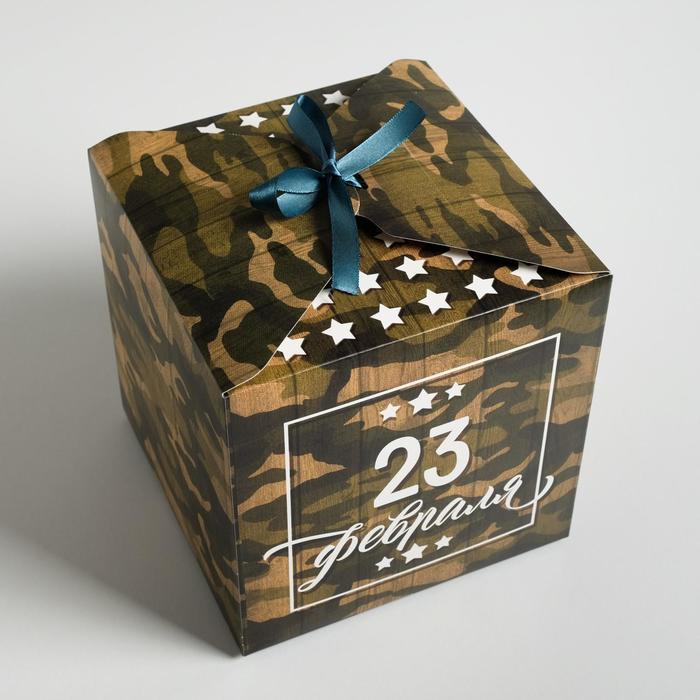 Коробка складная «С 23 Февраля», 18 × 18 × 18 см - фото 3