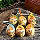 """Декор пасхальный подвеска """"Зайка в корзине с ромашками"""" набор 6 шт яйцо 5х7 см, фото 2"""