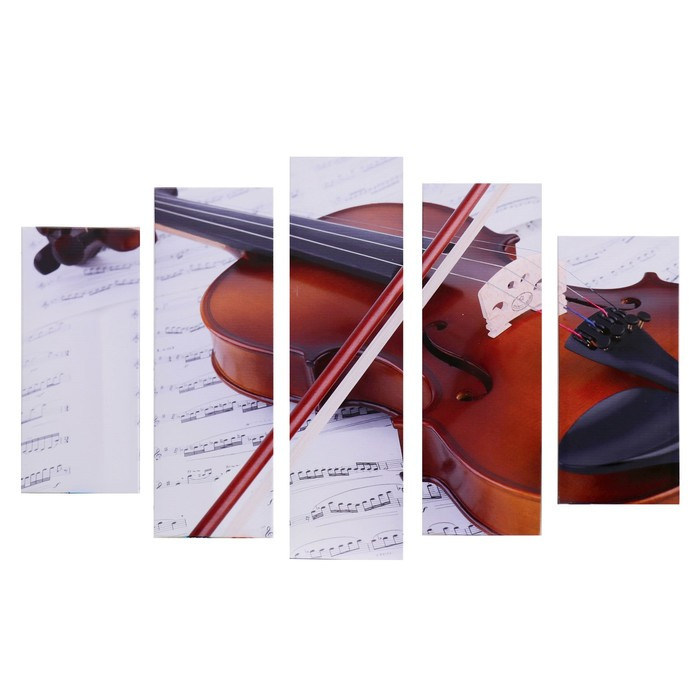 "Модульная картина ""Скрипка"" (2-23х52; 2-24х70; 1-24х80) 120х80см"