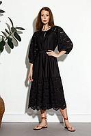 Женское летнее черное платье SODA 593 черный 46р.