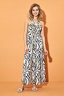 Женское летнее платье DiLiaFashion 0494 зебра 52р.