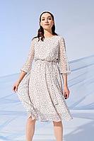 Женское летнее шифоновое белое платье Prestige 3917/170 молочный 44р.