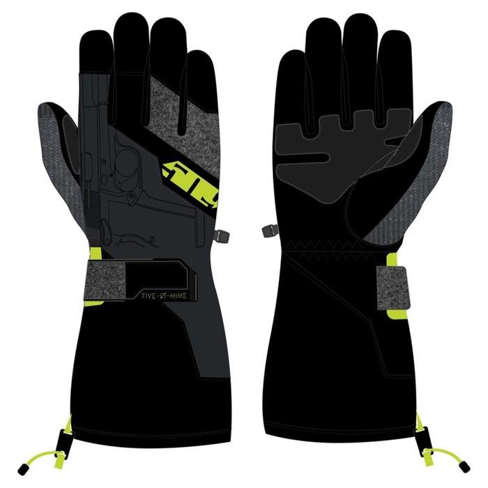 Перчатки 509 Backcountry с утеплителем, чёрный, жёлтый, 3XL