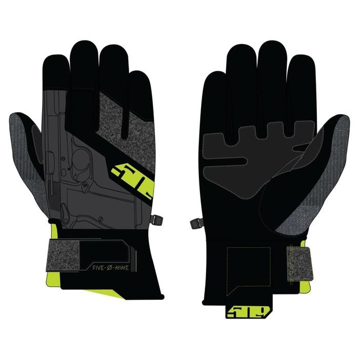Перчатки 509 Freeride с утеплителем, чёрный, жёлтый, S