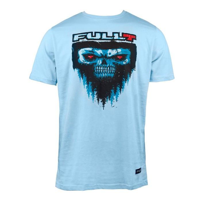 Футболка FullT Yeti, размер 2XL, цвет голубой-черный-красный
