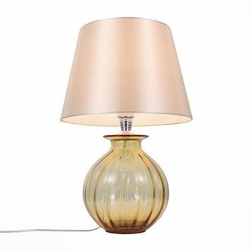 Настольная лампа CALMA, 60Вт E27, цвет хром, янтарный