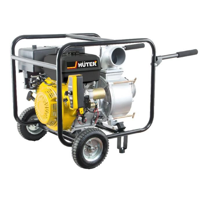 Мотопомпа бензиновая Huter MPD-100 70/11/6, для грязной воды, 1080 л/мин, 4-х тактный