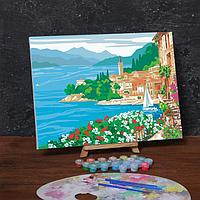Картина по номерам на холсте с подрамником «На берегу озера», 40х30 см
