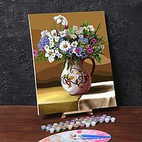 Картина по номерам на холсте с подрамником «Полевые цветы» 40х50 см