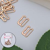 Крючок для бретелей, металлический, 10 мм, 20 шт, цвет золотой
