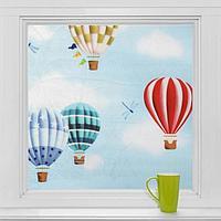 Витражная плёнка «Воздушные шары», 45×200 см
