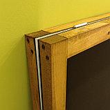 Штендер деревянный ДВУСТОРОННИЙ с черным полотном для мела, фото 2
