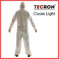 Одноразовый комбинезон TECRON™ Classic Light (плотность 45-50 г., внешние швы, пальцевые фиксаторы), фото 2