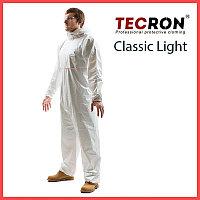 Одноразовые защитный комбинезоны TECRON Classic Light (плотность 45-50 г., внешние швы, пальцевые фиксаторы)