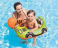 Надувной детский плавательный круг INTEX 59586NP зеленый экскаватор 86 см х 58 см