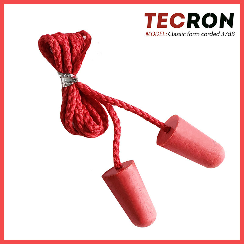 Беруши противошумные со шнурком TECRON™ Classic form corded 37dB