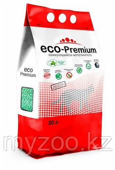 ECO-Premium алое, 20 л |Эко-премиум комкующийся древесный наполнитель|