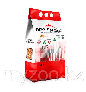 ECO-Premium персик, 20 л |Эко-премиум комкующийся древесный наполнитель|
