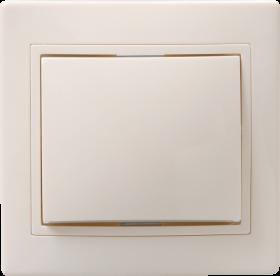Выключатель ВС 10-1-0-ККм однокл.10А КВАРТА (кремовый) ИЭК